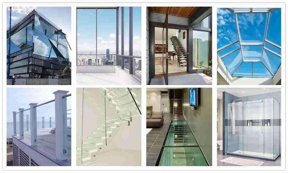 Verbundglasboden, Verbundglasfassade, Laminatglastüren, Sicherheits-Oberlichtglas, Verbundglasgeländer, Treppenglas, Verbundduschen