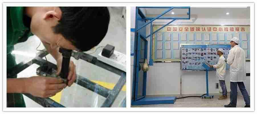 Verbundglas-Experiements, Sicherheitsglastest, Sicherheitsglasexperimente, Verbundsicherheitsglasqualität