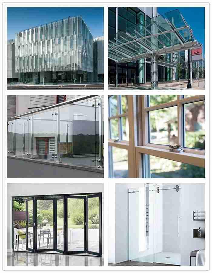 aplicaciones de vidrio templado