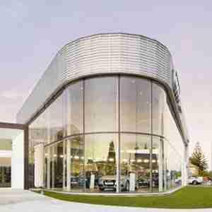 curve shape facade