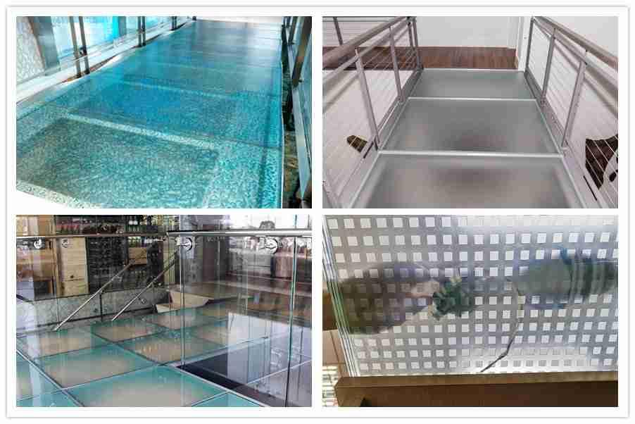 patrones de suelo de vidrio laminado