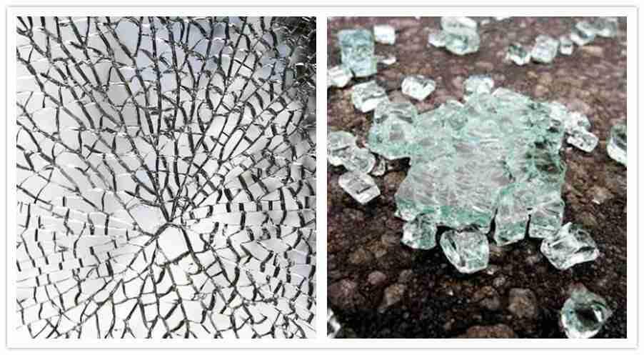 Gehärtete Glasbrüche