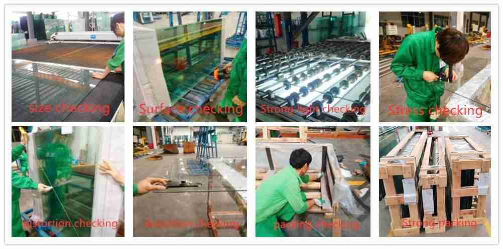 Shenzhen Dragon Glass kvalitetstesting for varme styrket glass