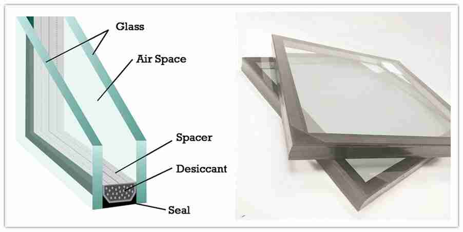 structure en verre d'unité de vitrage isolée