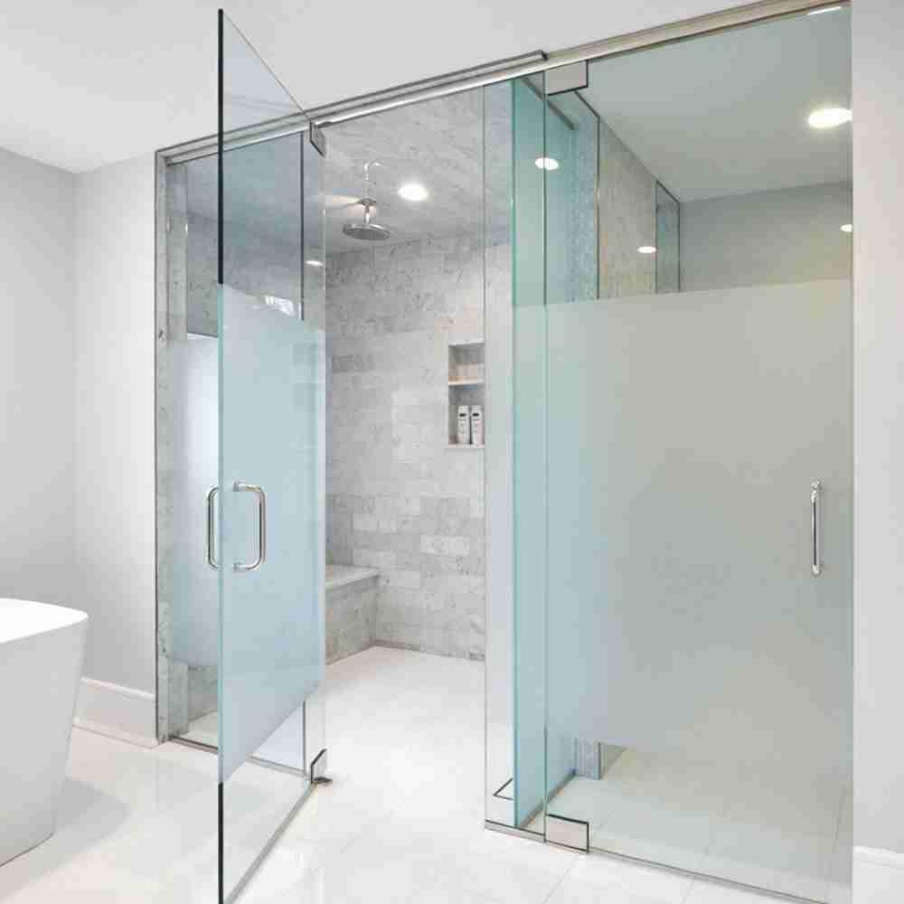 Portes de douche en verre soufflées de sable
