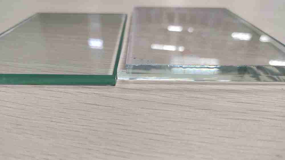 verre transparent VS verre de fer bas