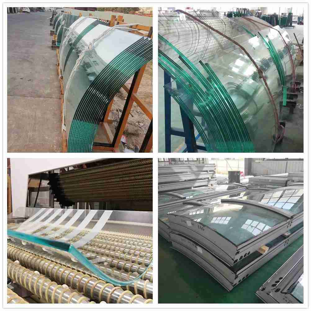 منتجات الزجاج المنحني للنوافذ