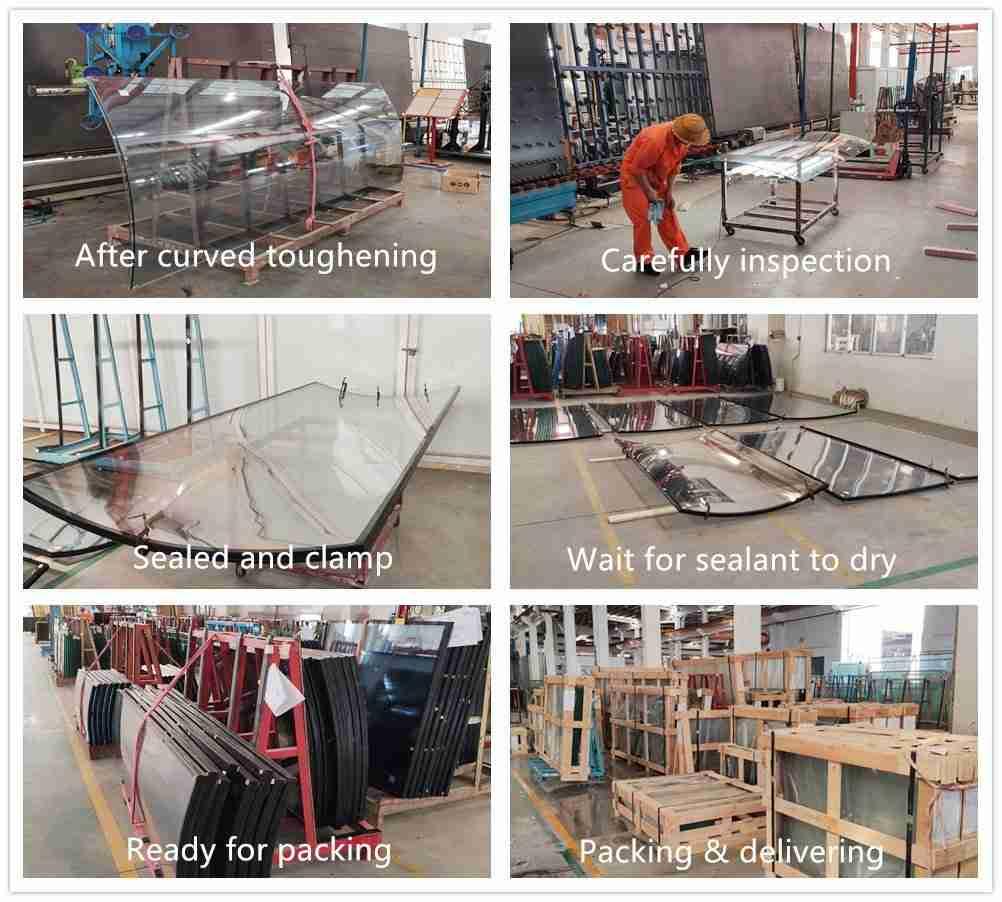 Shenzhen Dragon Glass cửa sổ kính cong sản xuất chi tiết.
