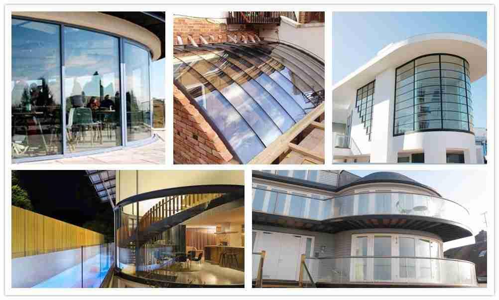 تصاميم النوافذ الزجاجية المنحنية