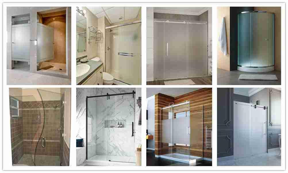 puertas de ducha escarchadas vs claro