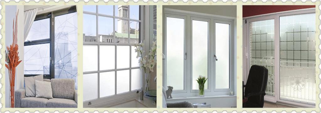 vitres sablées