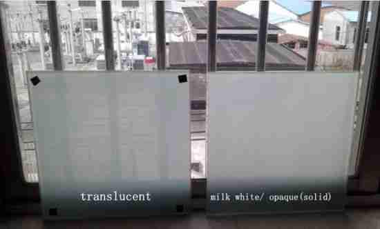 translúcido pvb puertas de ducha de vidrio