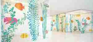 Digital printing glass partition wall