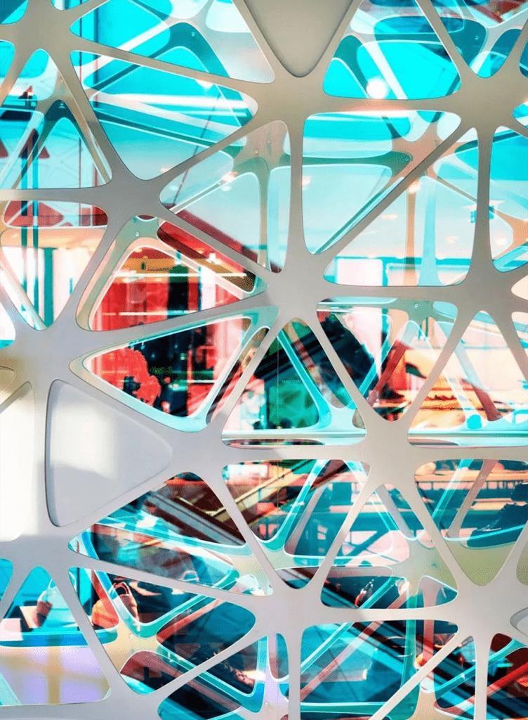 3M película dicroica coloreado vidrio laminado 2