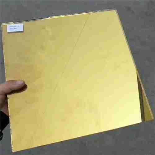verre de revêtement réfléchissant de chaleur de couleur d'or