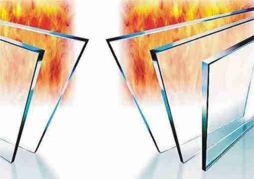 Panneau en verre résistant au feu simple