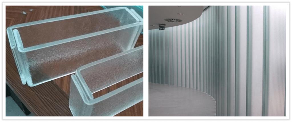 Vidrio de canal U con excelente diseño y rendimiento