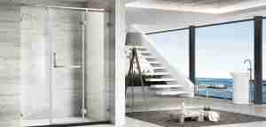 low iron glass shower door