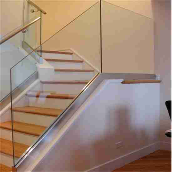 Elegant designs 6+1.52pvb+6 13.52mm tempered laminated glass railing for staircase with good price 6 glass railing for staircase