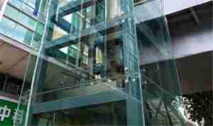 glass elevator 12mm clear tempered +2.28PVB+12mm clear tempered glass