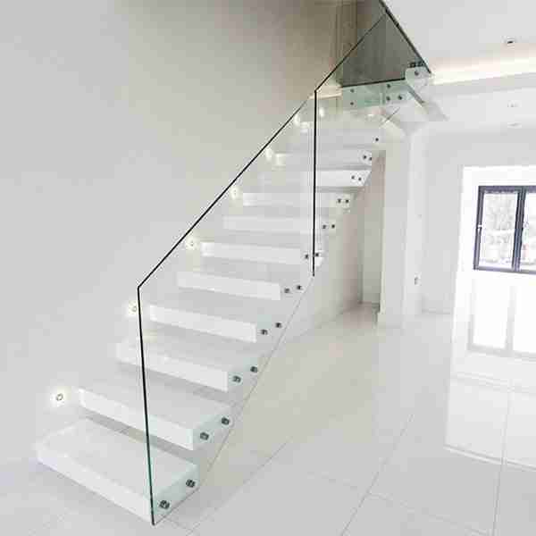 Elegant designs 6+1.52pvb+6 13.52mm tempered laminated glass railing for staircase with good price 3 glass railing for staircase