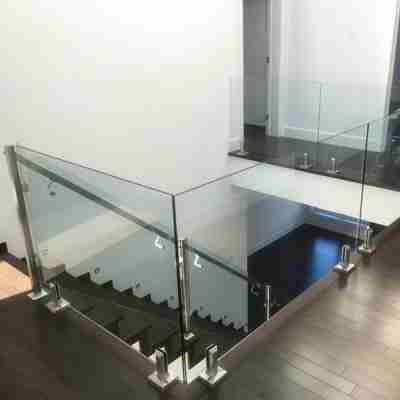 Elegant designs 6+1.52pvb+6 13.52mm tempered laminated glass railing for staircase with good price 4 glass railing for staircase