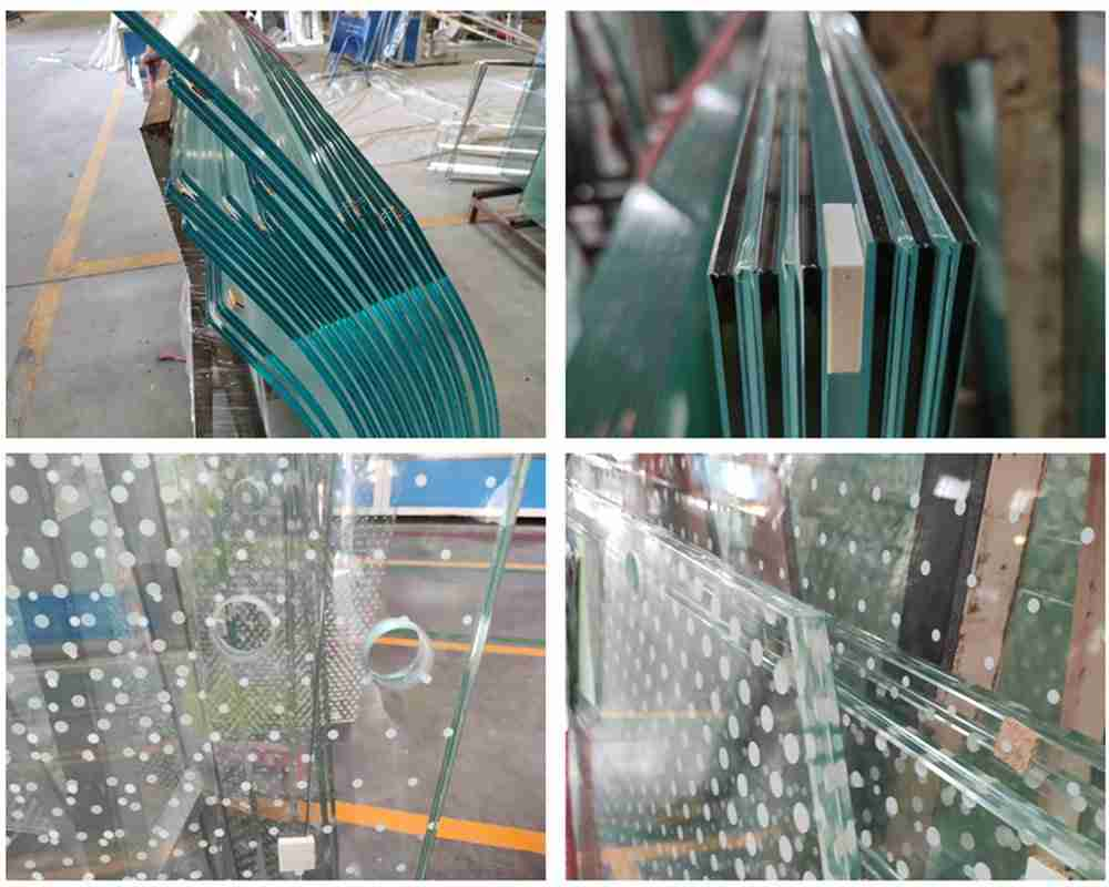 Laminated glass railing for staircase