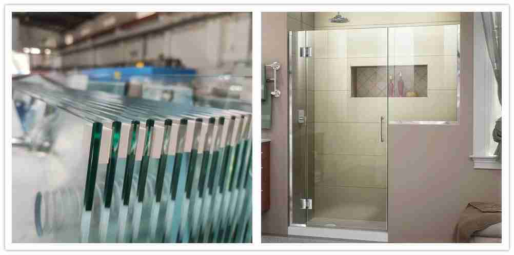 8mm low iron shower doors tempered glass