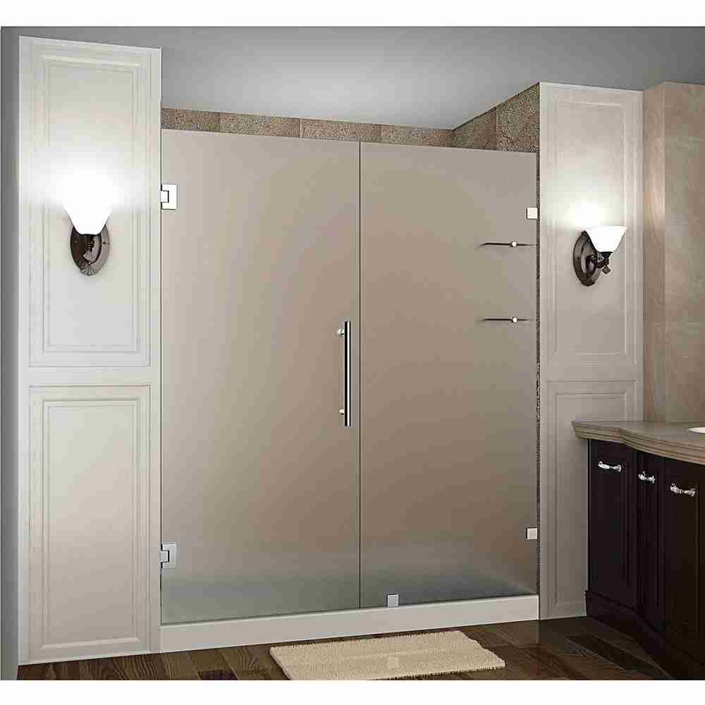 Frosted tempered glass shower doors