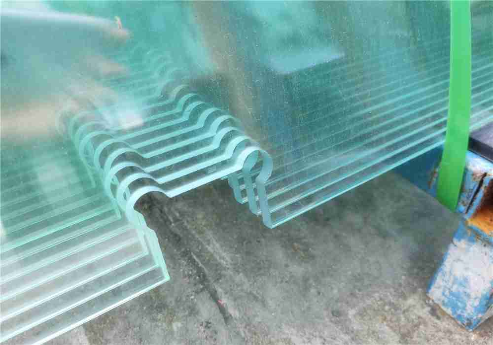 accurately processed tempered float glass