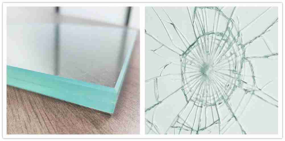 Annealed laminated glass for shower doors