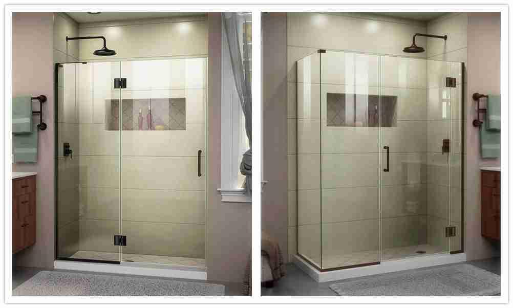 Puertas de ducha de cristal sin marco vidrio templado
