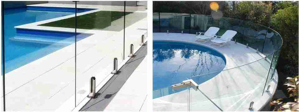 Flat vs curved glass panels for pool fencing