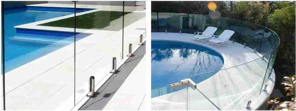 Panneaux de verre plat vs incurvé pour clôture de piscine
