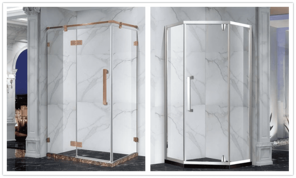One-side open tempered glass shower doors