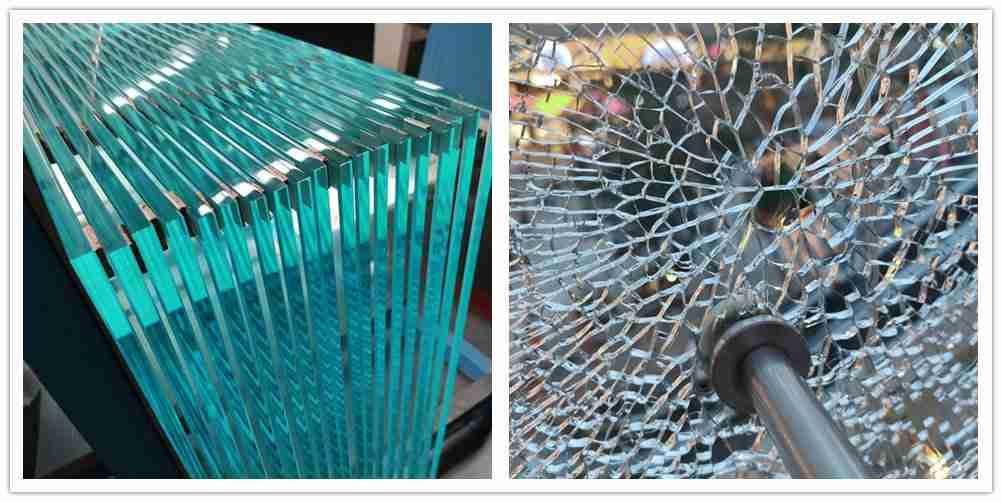 Herdet glassbrudd vil knuse i små partikler som er ufarlig for mennesker.