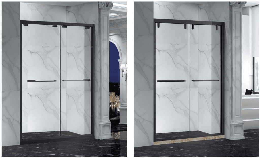 Shower doors tempered glass