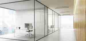 10mm toughened glass office partitions