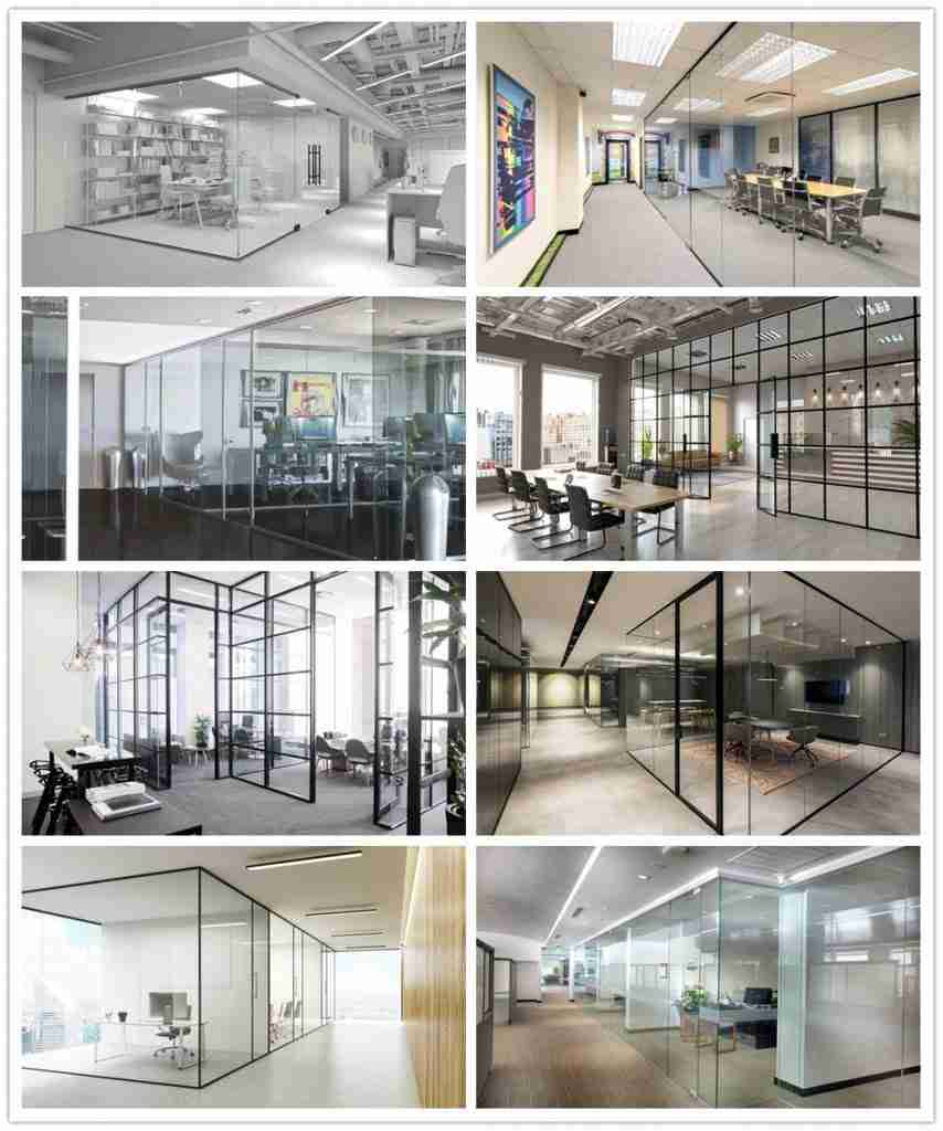 10mm toughened glass office partitions supplier