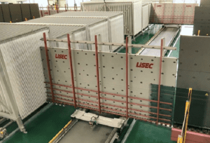 production de verre isolé par l'usine intelligente de Lisec