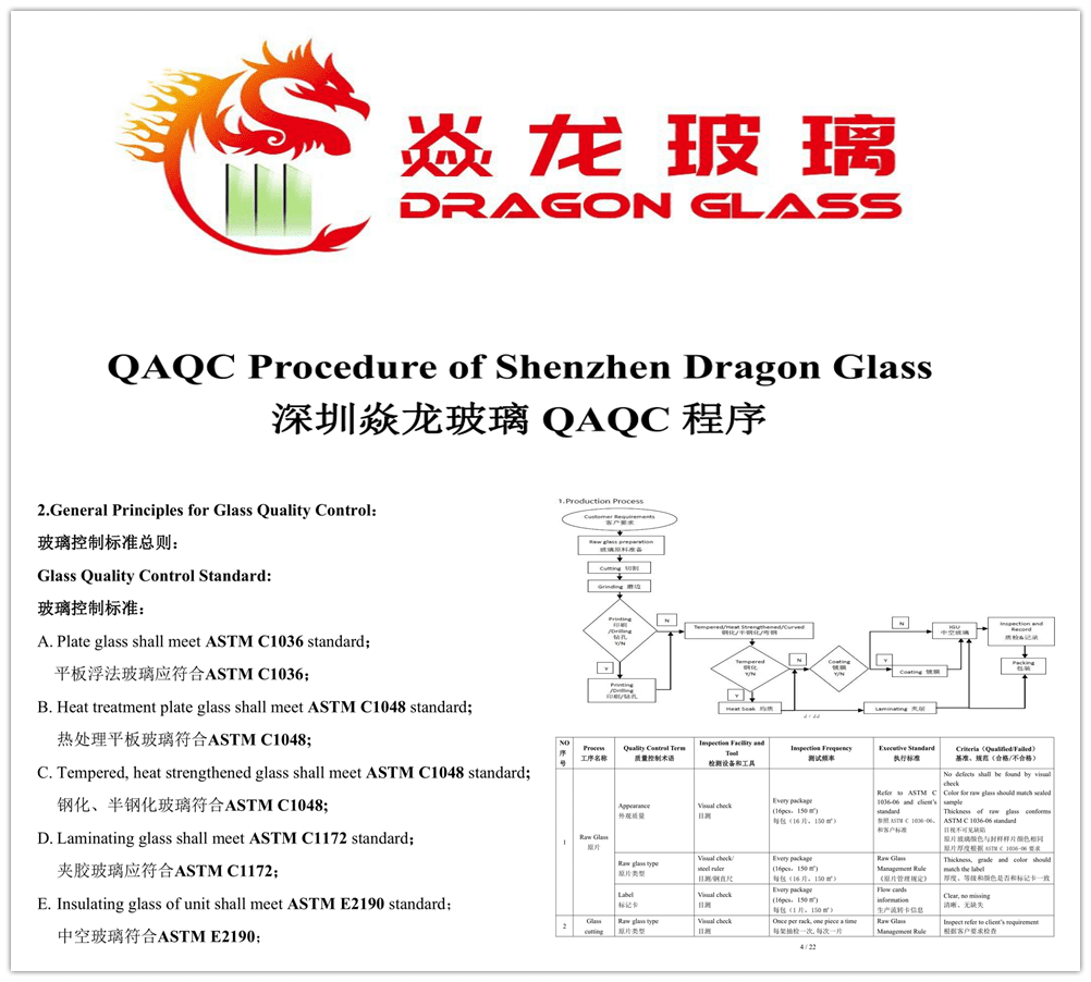 Shenzhen Dragon Glass QAQC file for reference