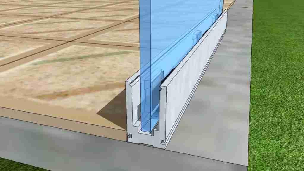U channel frameless railing system
