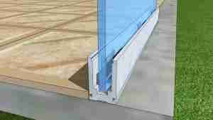 U channel frameless railing system