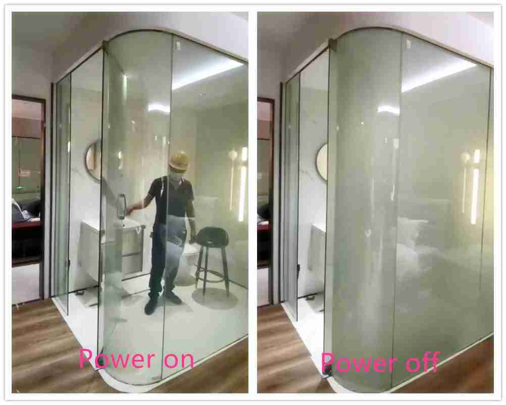 curved glass for smart glass shower door