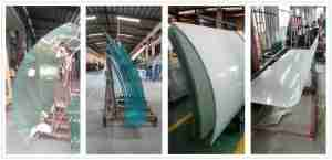 curved glass laminated smart glass