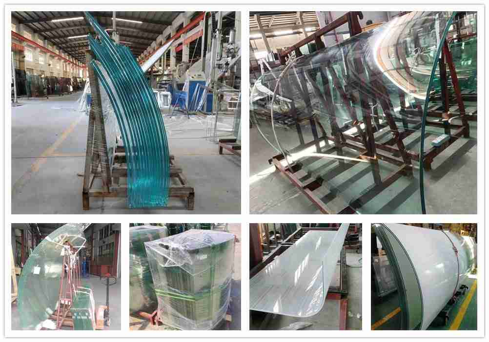 Curved glass products
