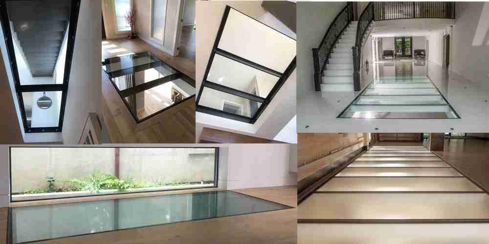 système de plancher en verre laminé durci
