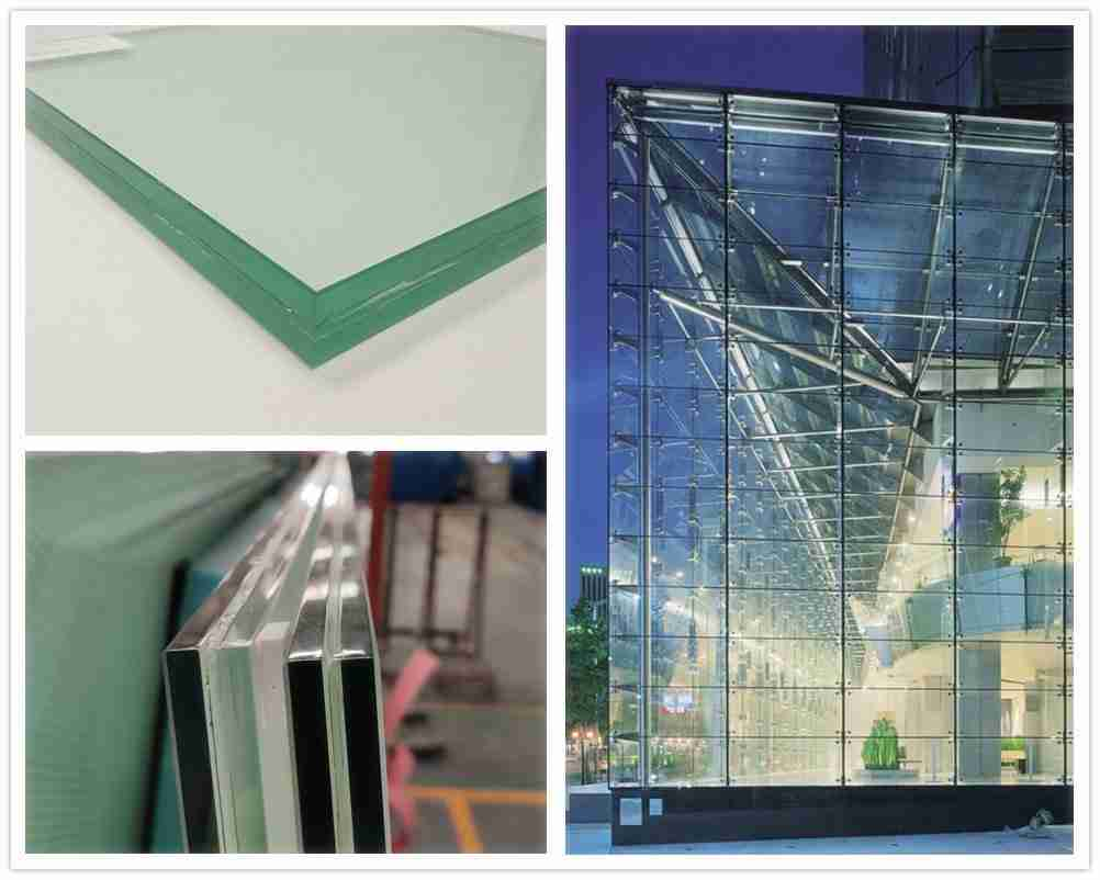 acoustic laminated glass for point fixed  glass curtain wall system