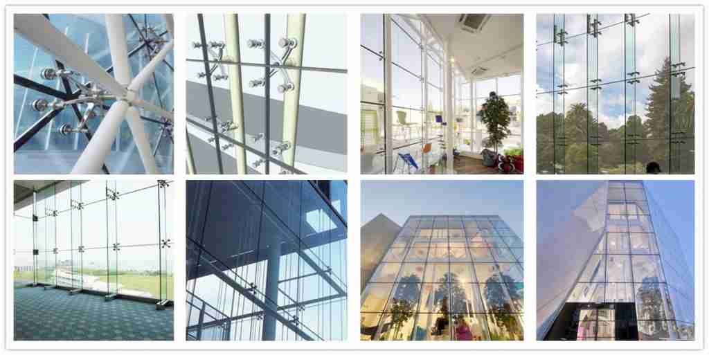 Acoustic laminated glass for curtain wall glass applications