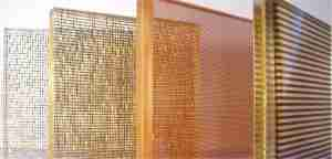 eva mesh laminated glass